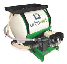 Hydroseeding végétalisation machine