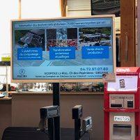 Diffusion d'un spot RACINE dans 3 supermarchés de l'Est lyonnais